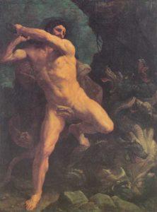 Hércules batalha contra a Hidra de Lerna