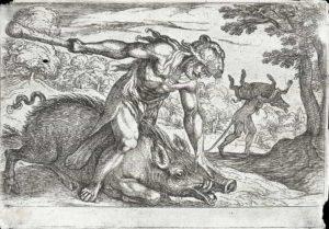 Hércules captura o Javali de Erimanto