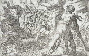 Hércules combate a Hidra de Lerna
