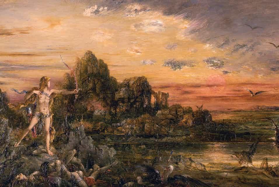 Hércules derrota as Aves do Lago Estínfalo