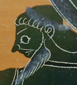Cabeça de Eurítion o pastor do gado de Gerião
