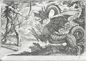 Hércules enfrenta Ládon