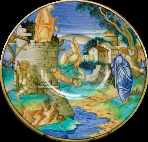 Perdiz cai da torre empurrado por Dédalo