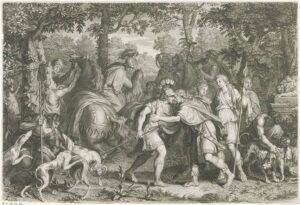 Heróis reunidos para a caçada ao Javali de Cálidon