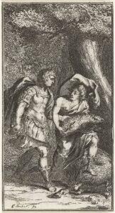 Melêagro entrega a cabeça do Javali Calidônio para Atalanta
